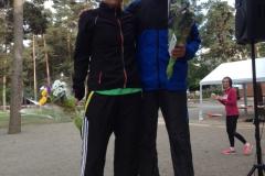 Vinnare 5 km dam Susanna Neill o herr Joakim Pihlstrand-Trulp. Foto Bagisloppet